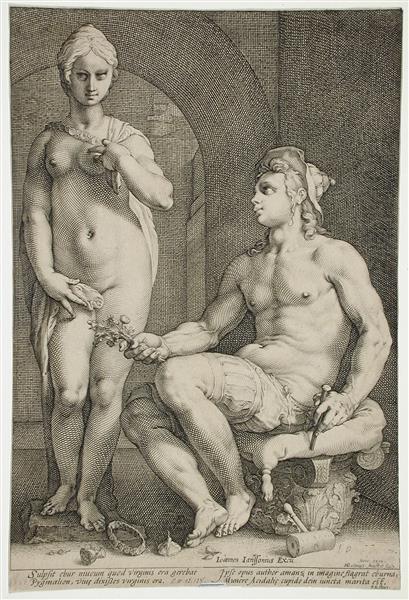 Pygmalion and Galatea, 1593 - Hendrick Goltzius