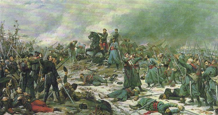 La Bataille De 1870 Conte La Prusse, Champ De Bataille D'Auvours, À Quelques Kilomètres Du Mans, 1871 - Lionel Royer