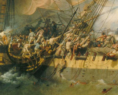 French Corvette Bayonnaise Boarding Hms Ambuscade During the Action of 14 December 1798 (detail) - Louis-Philippe Crépin