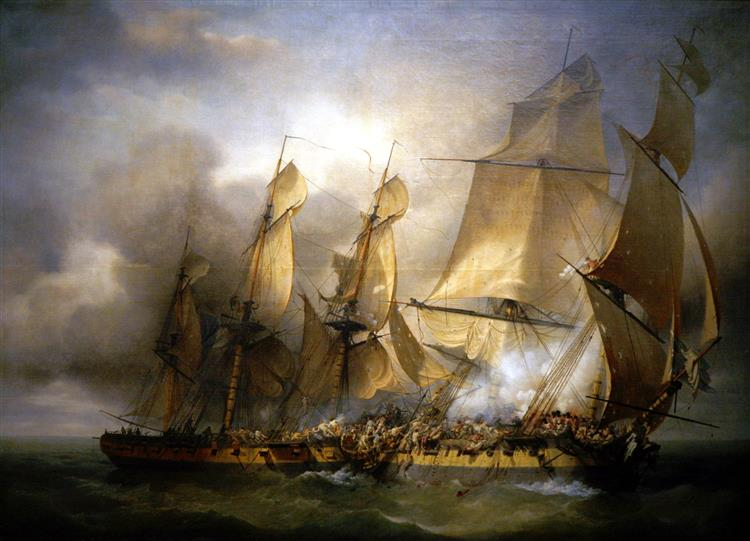 French Corvette Bayonnaise Boarding Hms Ambuscade During the Action of 14 December 1798 - Louis-Philippe Crépin