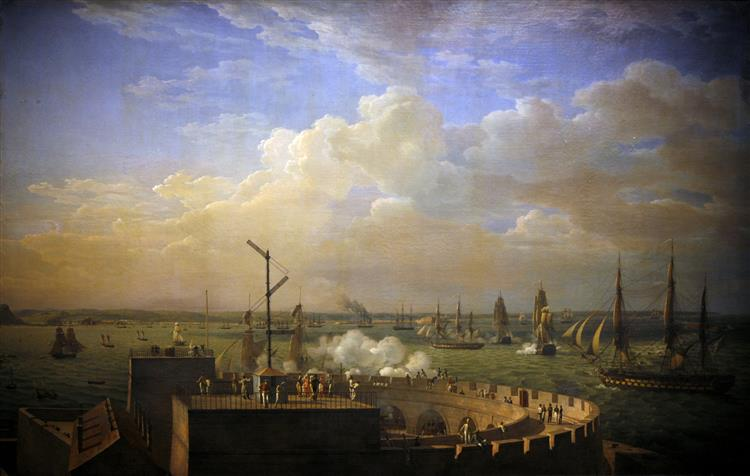 Cherbourg harbour, 1822 - Луи-Филипп Крепен
