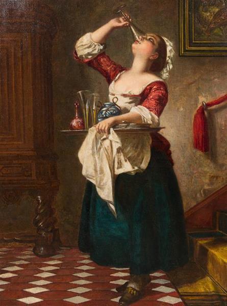 A Naughty Maid - Ludwig Knaus