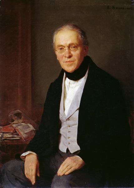 Portrait of Gustav Friedrich Waagen, 1855 - Ludwig Knaus