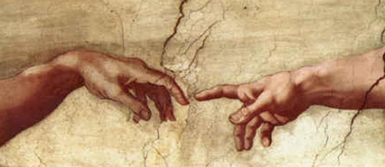 The Creation of Adam (detail), 1508 - 1512 - Michelangelo