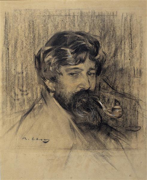 Portrait of Santiago Rusiñol - Ramon Casas