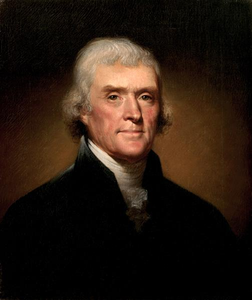 Portrait of Thomas Jefferson, 1800 - Rembrandt Peale