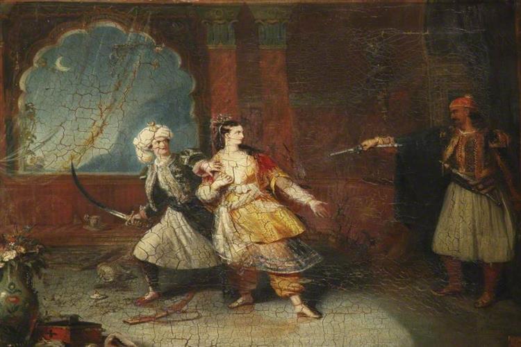 Scene from 'Don Juan', 1836 - Robert William Buss