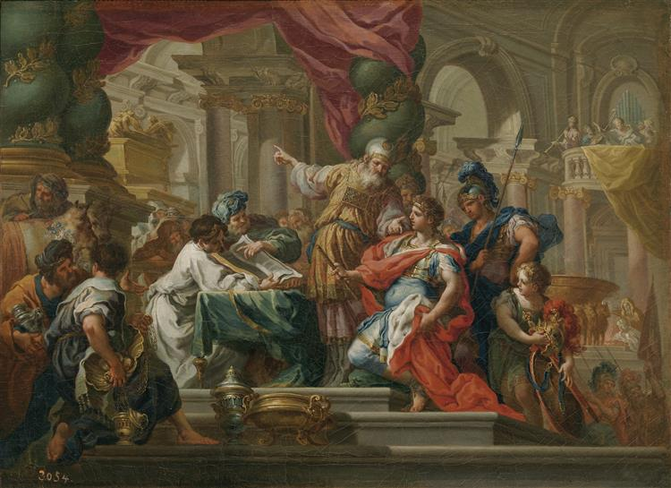 Alexander the Great in the Temple of Jerusalem, 1736 - Sebastiano Conca