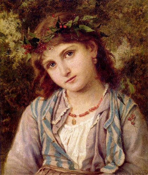 An Autumn Princess - Sophie Gengembre Anderson