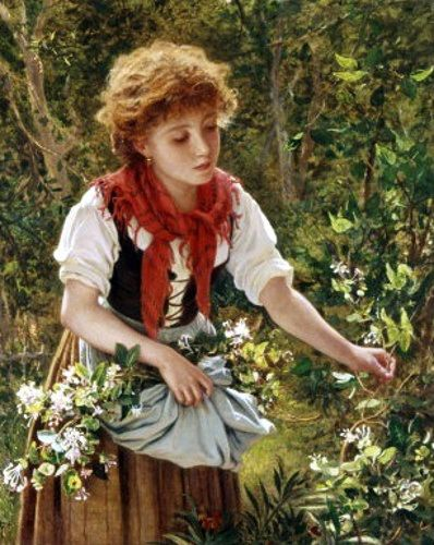 Picking Honeysuckle - Sophie Gengembre Anderson