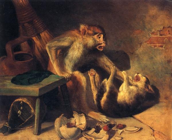 Domestic Squabble, 1867 - Уильям Холбрук Бирд