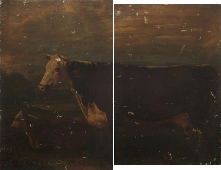 Hereford Cow and Calf (diptych - William Shiels