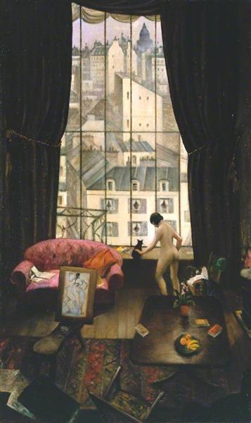 A Studio in Montparnasse, 1926 - C. R. W. Nevinson