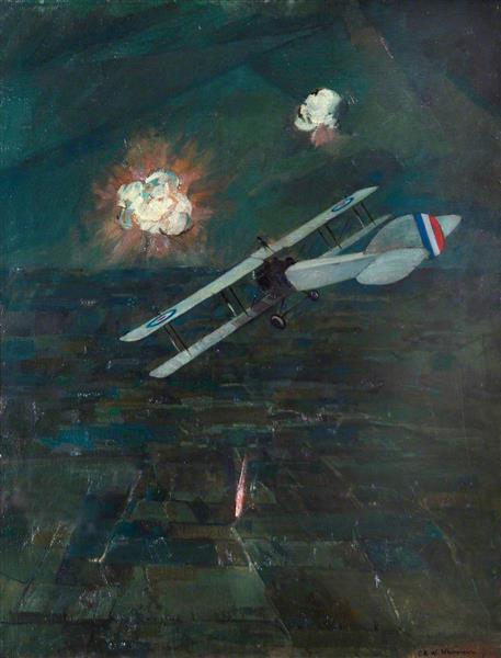 Night Raid, 1917, c.1920 - C. R. W. Nevinson