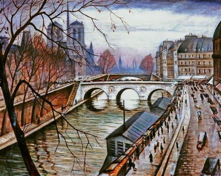 Notre Dame De Paris from Quai Des Grands Augustins, 1920 - 1930 - Christopher Nevinson