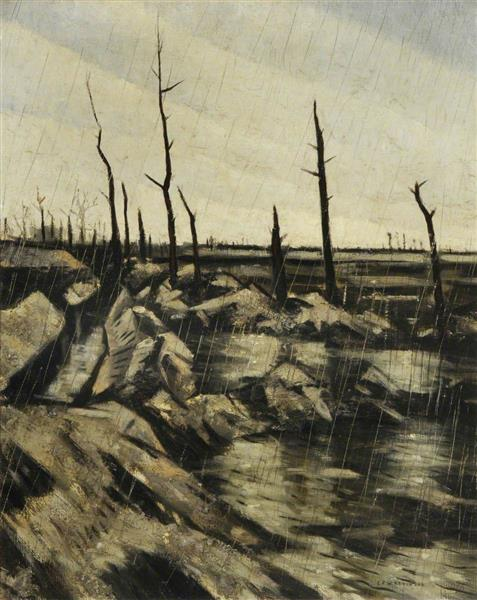 Rain and Mud After the Battle, 1917 - C. R. W. Nevinson