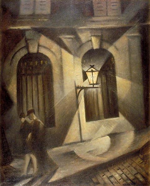Sinister Paris Night - C. R. W. Nevinson