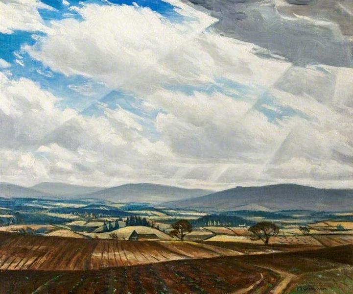 Welsh Hills - C. R. W. Nevinson