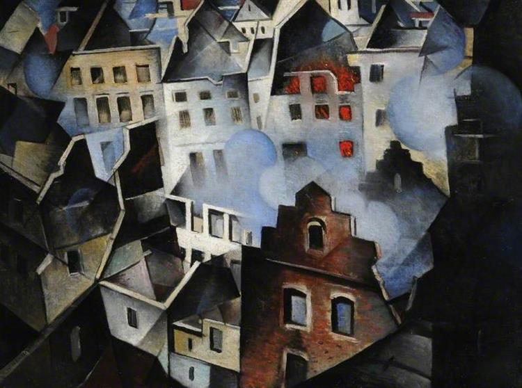 Ypres After the First Bombardment, 1916 - C. R. W. Nevinson
