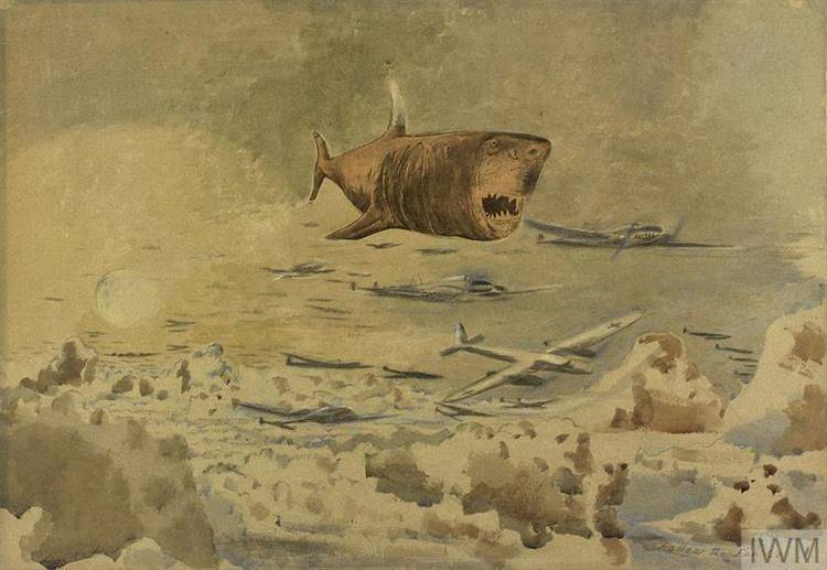 Follow the Fuhrer Above the Clouds, 1942 - Paul Nash