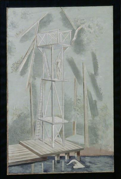 The Diving Stage, 1928 - Paul Nash
