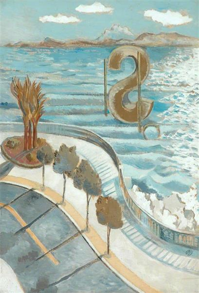 View from a Window, Nice, 1934 - Paul Nash