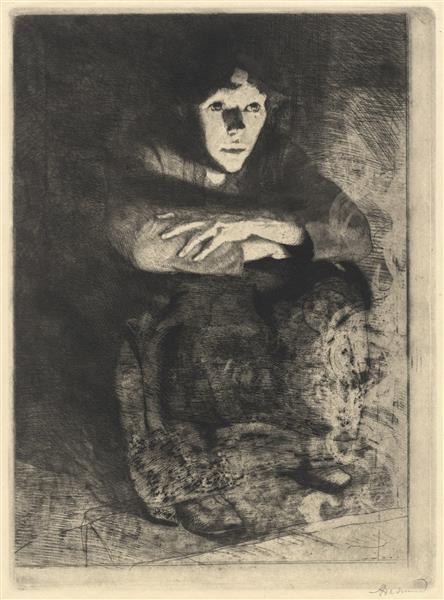 In the Embers, 1887 - Paul-Albert Besnard
