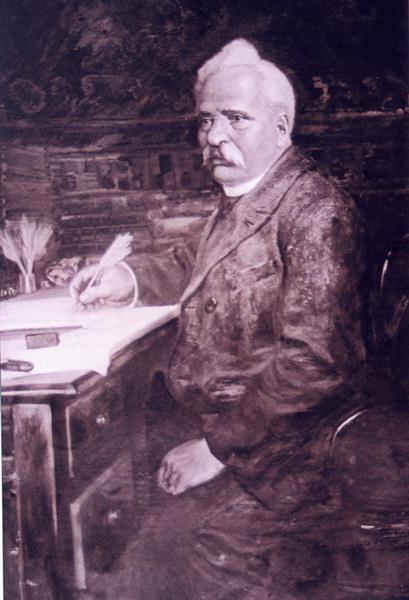Portrait of Petko Slaveikov - Ivan Mrkviсka