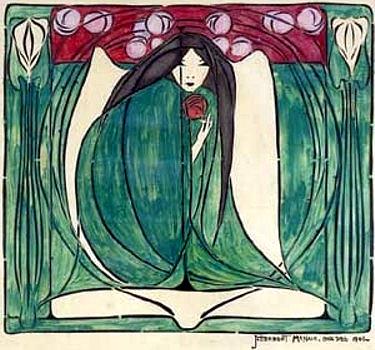 Floral Design, 1901 - Фрэнсис Макдональд Макнейр