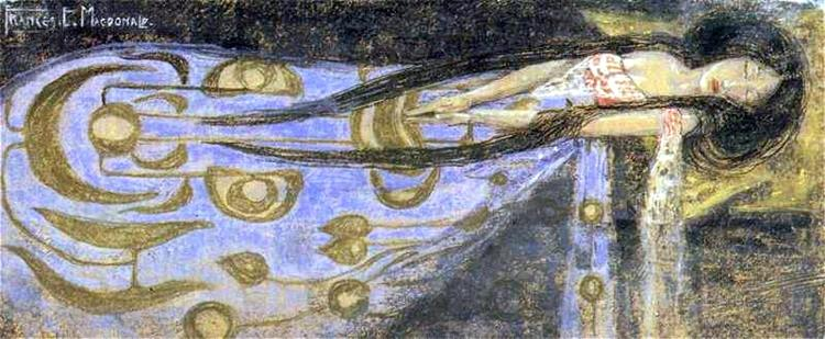 The Sleeping Princess, 1910 - Frances Macdonald