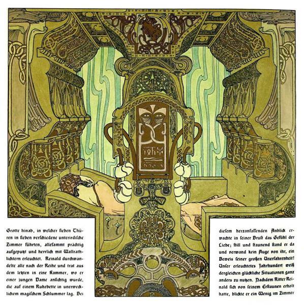 Die Bucher Der Chronika Der Drei Schwestern 14, c.1900 - Heinrich Lefler