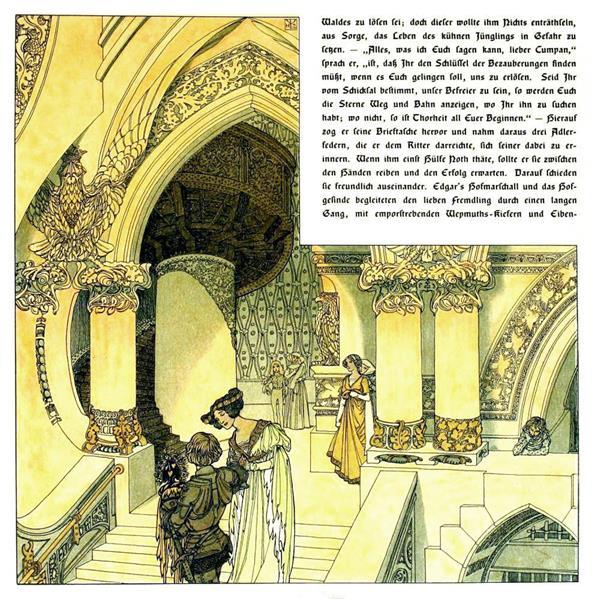 Die Bucher Der Chronika Der Drei Schwestern 19, c.1900 - Heinrich Lefler