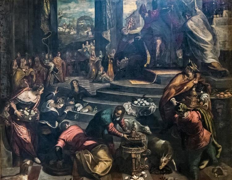 Joachim Expelled from the Temple - Domenico Tintoretto