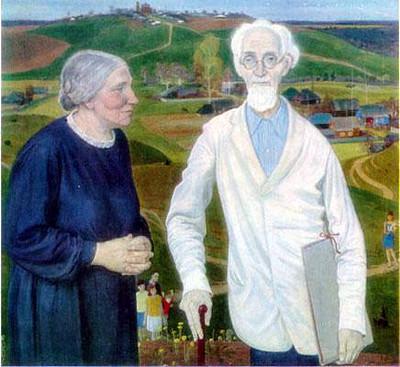 Painter N.M. Chernyshev's Family, 1969 - Dmitri Zhilinsky