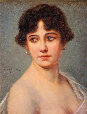 Portrait of young lady - Rafael García Hispaleto (El Hispaleto)