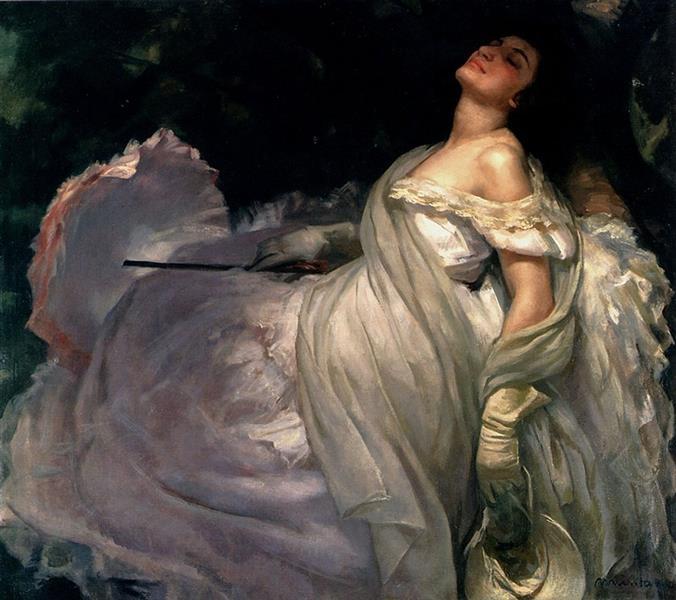 Reclining Lady, c.1894 - Francesc Masriera