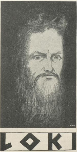Illustration Zu Ludwig Jacobowski Loki, 1899 - Hermann Hendrich