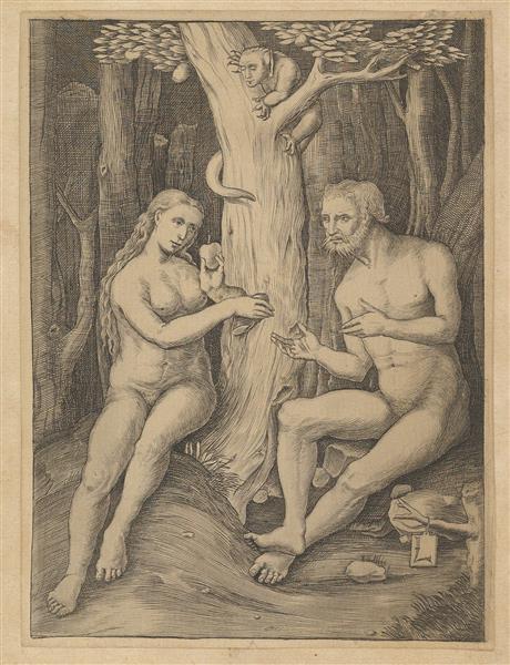 Adam and Eve - Lucas van Leyden