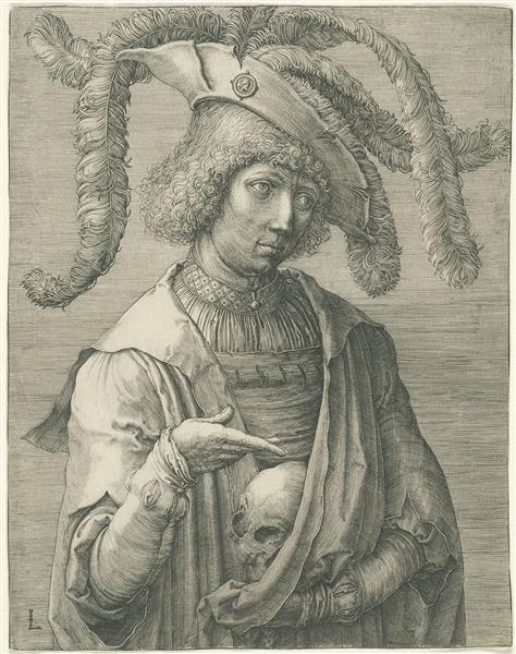 Young Man with a Skull, 1519 - Lucas van Leyden