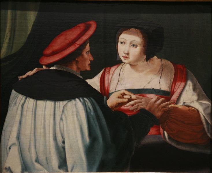 Fiancees, c.1527 - Лукас ван Лейден