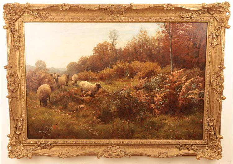 LANDSCAPE WITH SHEEP - WILLIAM SIDNEY COOPER
