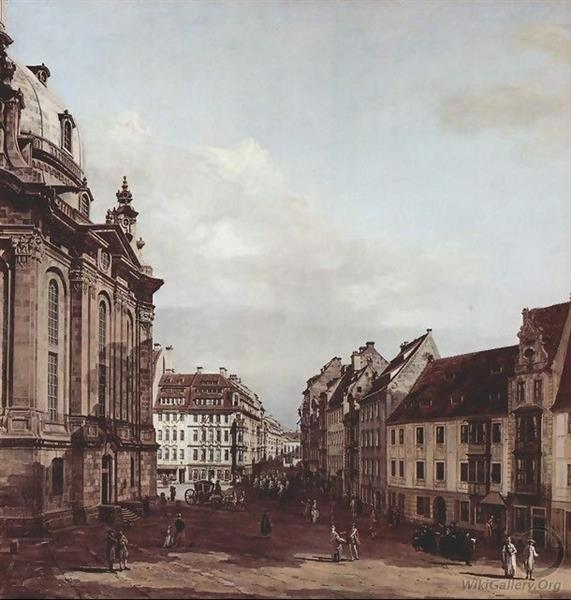 View of Dresden, the Frauenkirche - Canaletto