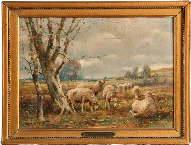 GRAZING SHEEP - REUBEN LEGRANDE JOHNSTON