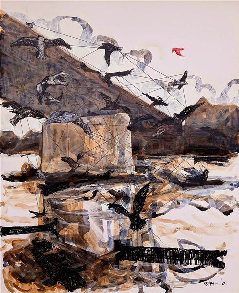 The free bird (COVID-19 artwork no.2), 2020 - Alfred Krupa