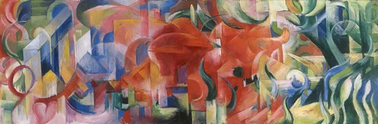 Forms at Play (Playing Forms), 1914 - Franz Marc
