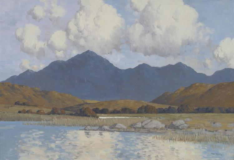 Lake and Blue Mountains of Connemara - Paul Henry