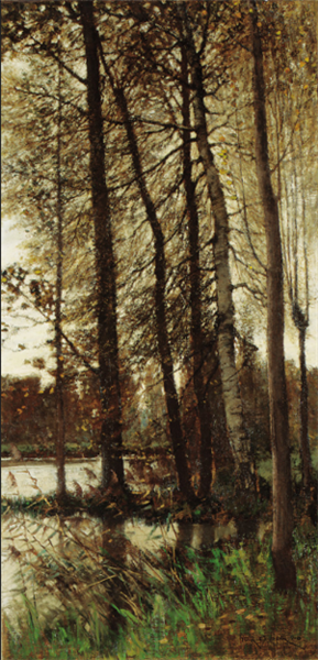 Autumnal greys (Forest of Fontainebleau), 1880 - Frank O'Meara