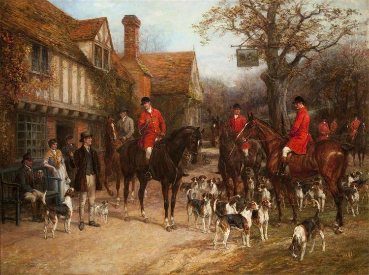 The Meet, 'Ye Olde Wayside Inn' - Heywood Hardy