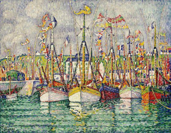 Blessing of the Tuna Fleet at Groix, 1923 - Paul Signac
