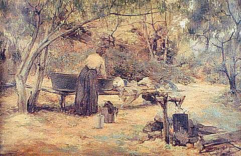 A Country Washhouse, c.1905 - Clara Southern